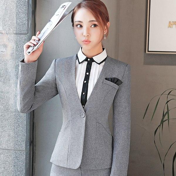 灰姑娘[YS-7017-PF]大V領單釦斜口袋修身OL長袖西裝外套~秋裝新款~
