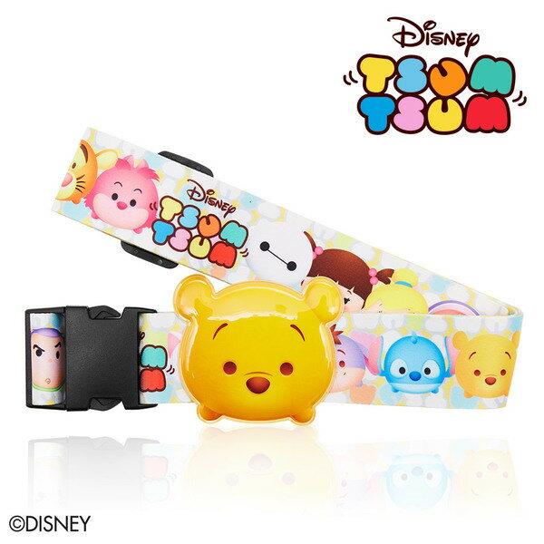 【加賀皮件】DESENO Disney 迪士尼 TSUMTSUM 可愛 造型 立體名牌束帶 行李箱綁帶 維尼 B1135-0007