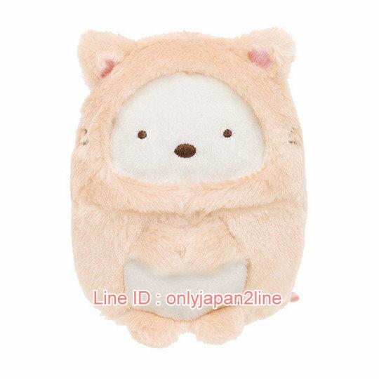 【真愛日本】4974413678780 角落公仔娃S-變裝貓白熊 SAN-X 角落公仔  娃娃 絨毛 擺飾 公仔