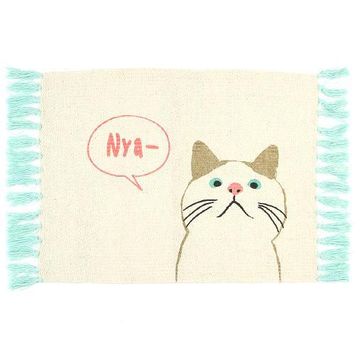 日本代購預購 日本喵星人 貓咪 萌貓 大門浴室地毯地墊腳踏墊防滑墊 滿600免運 809-383