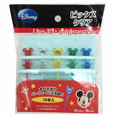 【真愛日本】16121500031食物叉十入-造型米奇 迪士尼 米老鼠米奇 米妮 日本限定 精品百貨 日本帶回