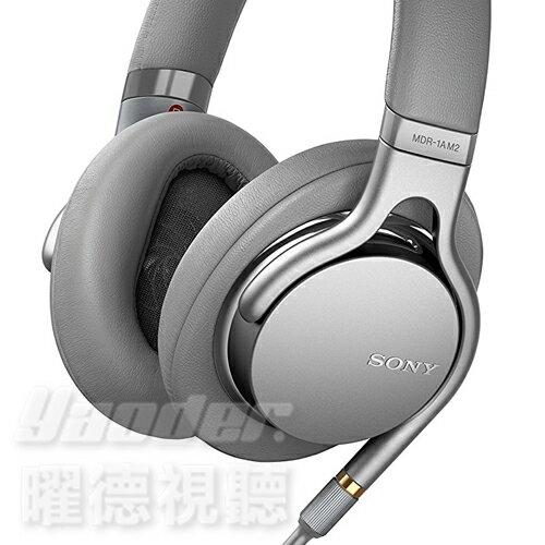 【曜德★送收納袋】SONYMDR-1AM2銀色高音質輕巧耳罩式耳機4.4mm平衡傳輸★免運