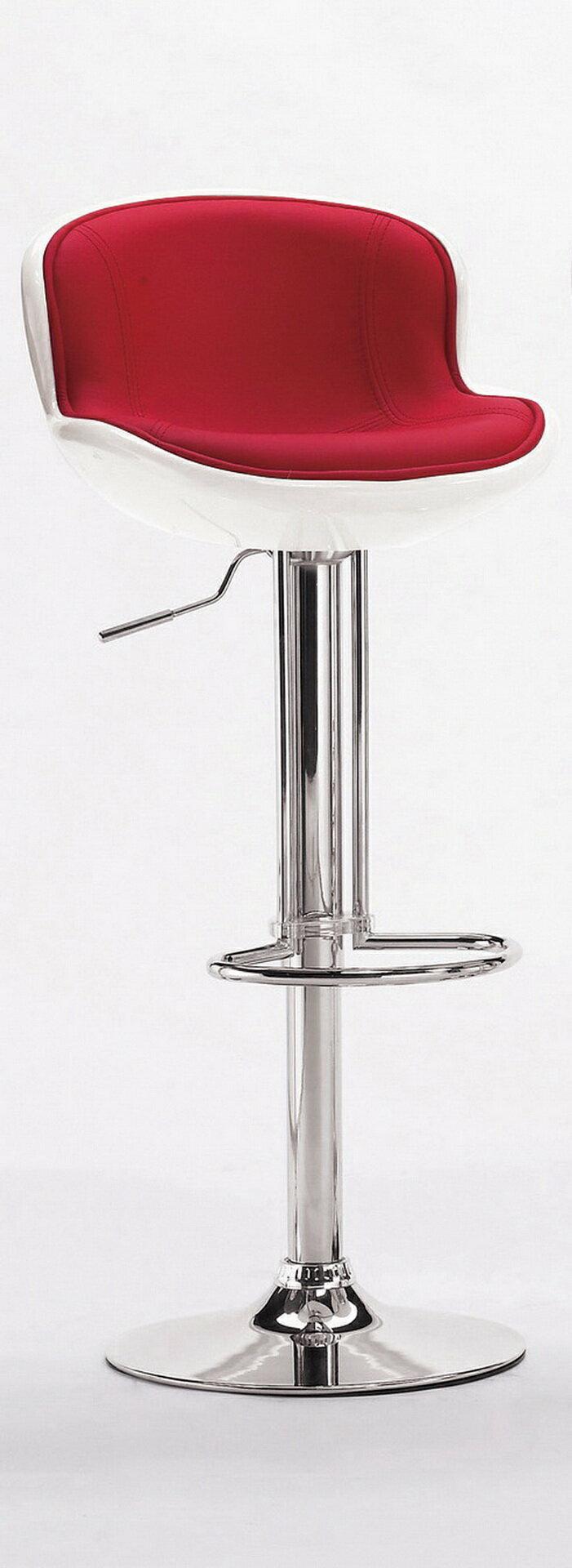 【尚品家具】CM-530-4  瓦特吧椅(白紅)~另有白橘,白黑,黑紅