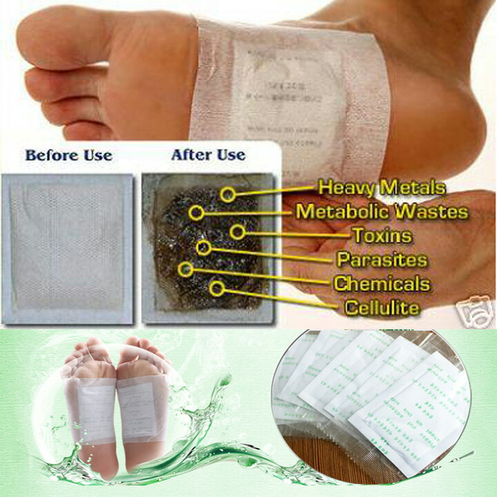 100 Patches Detox Foot Pads Weight Loss Stress Relief 0