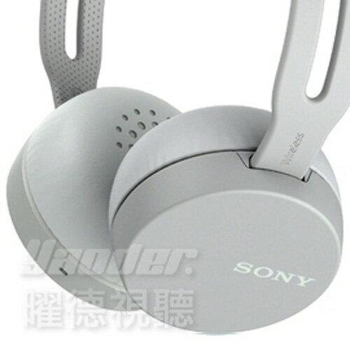 【曜德★送收納袋】SONYWH-CH400灰無線藍芽立體聲耳罩式耳機★免運★