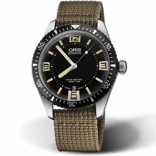 ORIS 豪利時 0173377074064~0752022 Divers Sixty~Five日期腕錶   黑面 40mm