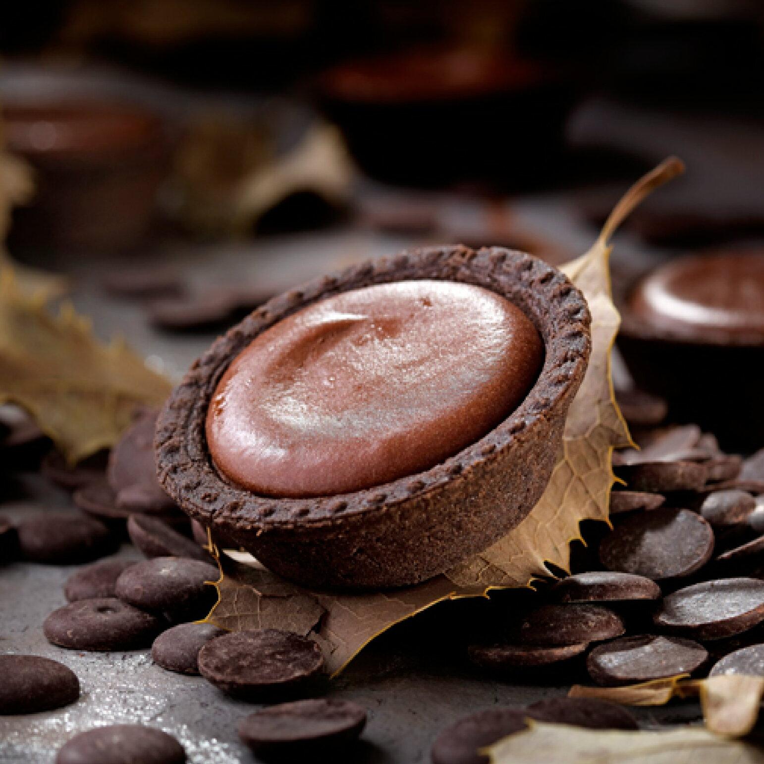 【安普蕾修Sweets】苦甜巧克力起士塔10入/盒|團購| 甜點| 下午茶|  禮盒| 蛋糕|蛋奶素
