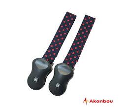 日本【Akanbou】UV check多用途固定夾-圓點紅/美國星