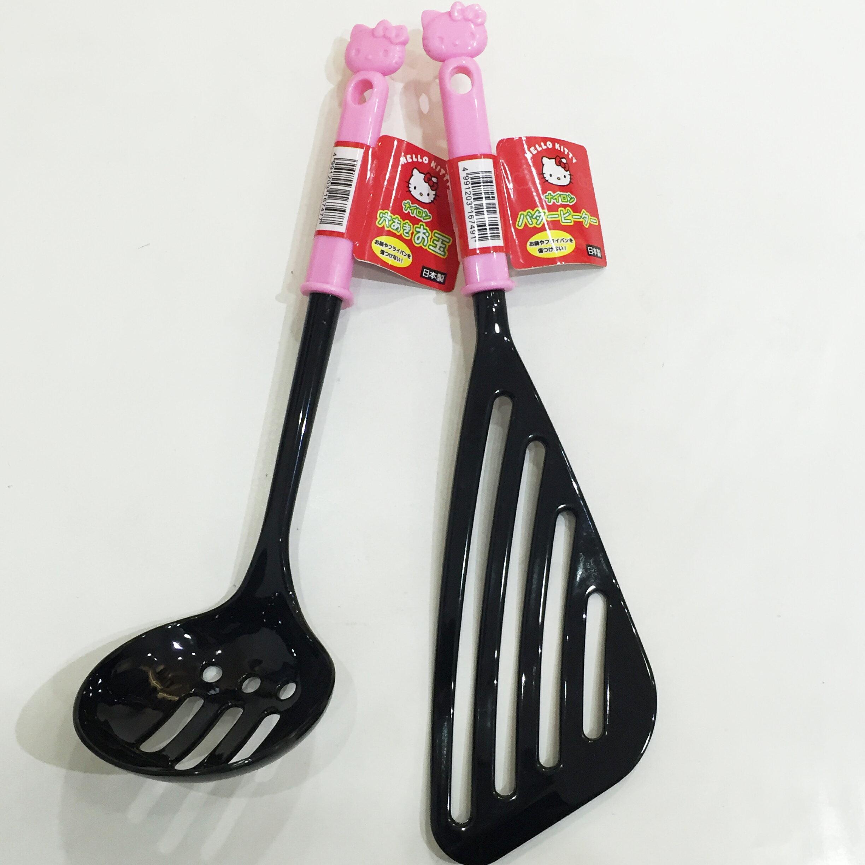 HELLO KITTY 鍋鏟 煎鏟 湯勺 撈麵勺 廚具 立體大頭 餐具 39元 正版日本製造進口 *JustGirl *