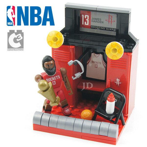 【C3 TOYS】超可動積木人偶 NBA系列 - 球員休息室套組 哈登 21527