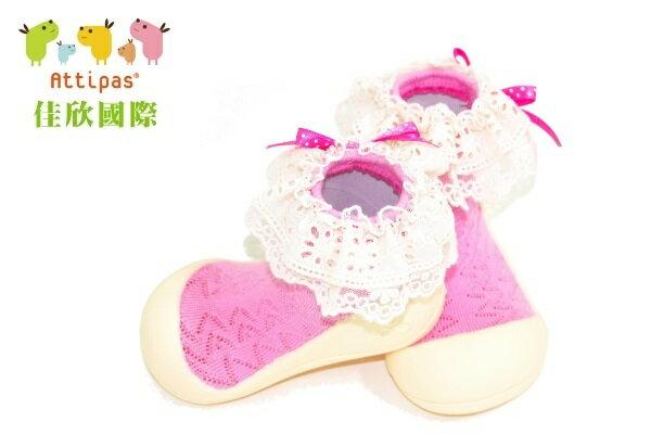 【平均1雙只要495】韓國【Attipas】快樂腳襪型學步鞋(AW淑女系列)