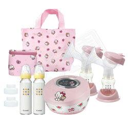 Combi 康貝 Hello Kitty 限量版雙邊電動吸乳器【送好禮】【悅兒園婦幼生活館】
