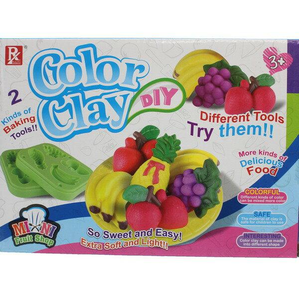水果彩泥組 DIY彩泥黏土童玩 728B-4/一盒入{促99} 主題創意套裝黏土 3D彩泥~CF135681