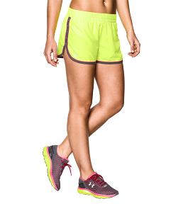 《UA出清5折》Shoestw【1237616-787】UNDERARMOURUA服飾慢跑短褲運動褲螢光黃女生
