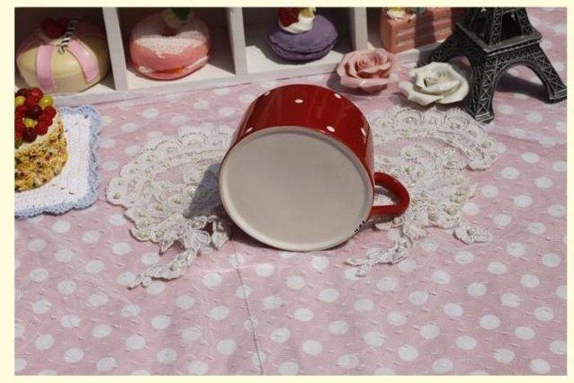 紅色波點陶瓷咖啡杯 英式下午茶杯 韓式 歐式 咖啡器具 時尚大方