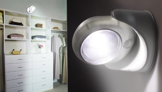 Indoor/Outdoor Security Light  2PK - LED Wireless Safety Light w/ Motion Sensor Detection 2