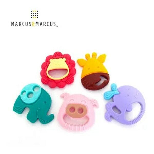 加拿大【Marcus&Marcus】動物樂園感官啟發固齒玩具-6款