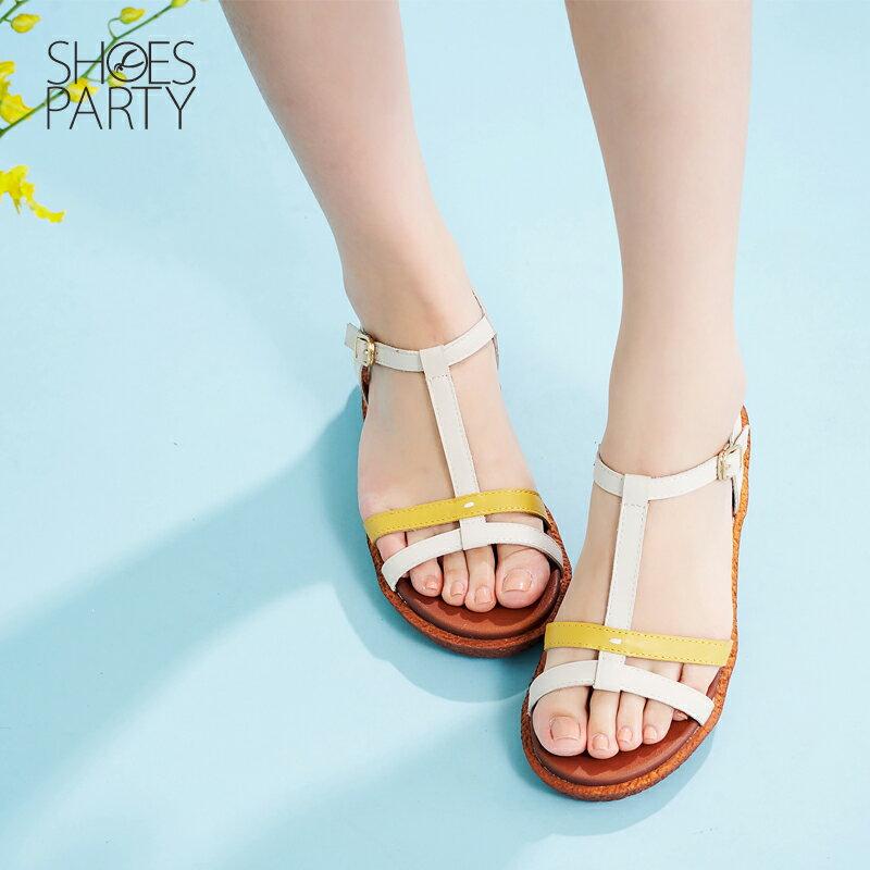 【S2-17622L】Simple+久走不累撞色系帶涼鞋_Shoes Party 3