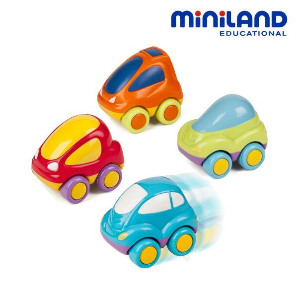 東喬精品百貨商城:免運費【西班牙Miniland】可愛迴力小車-四入組