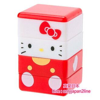 【真愛日本】16091000078自來水印章-KT積木紅  三麗鷗 Hello Kitty 凱蒂貓  印章 文具