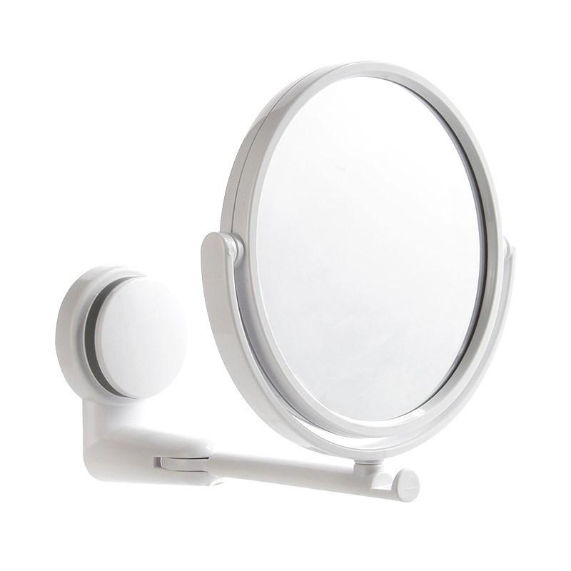 浴室無痕貼吸盤可調整雙面梳妝鏡 3倍放大 免打孔旋轉伸縮雙面鏡 圓型化妝鏡 牢固壁掛鏡子【ZJ0103】《約翰家庭百貨 好窩生活節 1