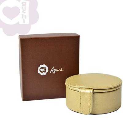 【Aguchi 亞古奇】法式馬卡龍-香檳金 珠寶盒(玩美精靈系列) 2