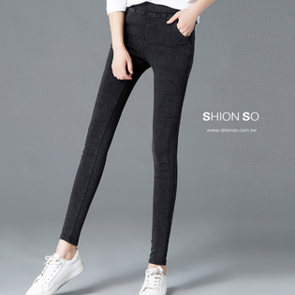 享瘦衣舍中大尺碼【B2018】塑型顯瘦百搭款鉛筆褲