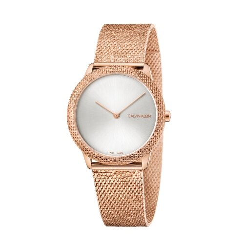 Calvin Klein CK 優雅玫瑰金典雅腕錶(K3M22U26)35mm 618年中狂歡↘專櫃手錶全網最低
