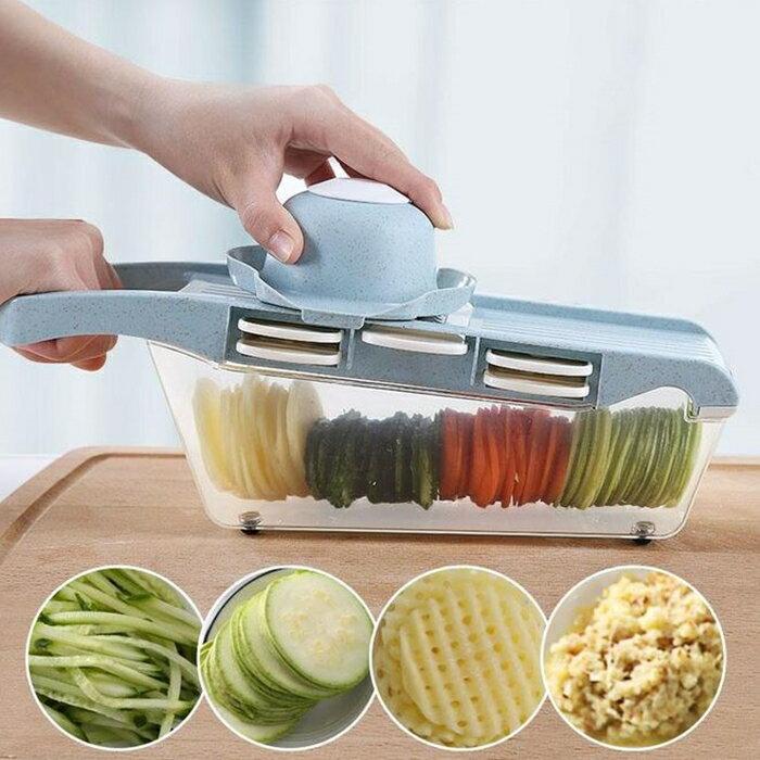 [Hare.D] 多功能切菜器 切菜盒 切絲器 切片器 切菜機 水果切割器 刨絲削皮器 削皮刀