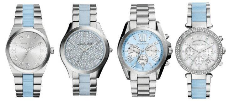 美國Outlet 正品代購 Michael Kors MK 三環 淺藍精鋼 滿鑽 手錶 腕錶 MK6138 1