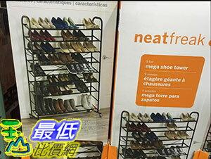 [105限時限量促銷] COSCO 9-SHELF MEGA SHOE TOWER 9層大型鞋架附輪 111.5X37X151.4公分 C876976