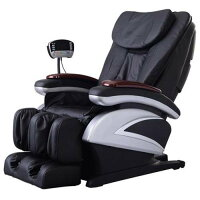 Electric Full Body Shiatsu Massage Chair Recliner w/ Heat and Stretched Foot Rest - Black,  	BM-EC-06C