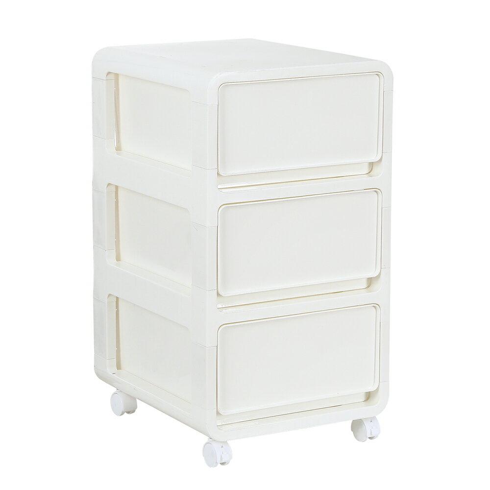 日式三層抽屜式夾縫收納櫃(白色)