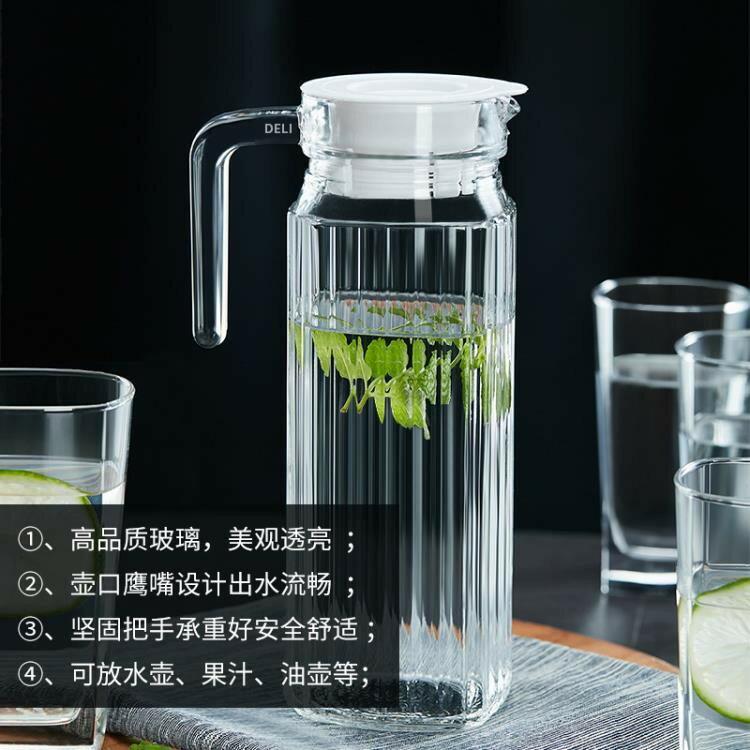 店長推薦冷水壺玻璃涼水壺大容量水杯套裝防爆耐熱家用耐高溫涼水杯