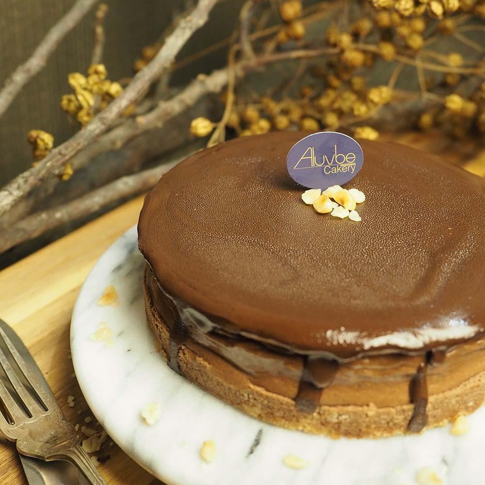 艾樂比 【榛果巧克力重乳酪】 6吋 乳酪蛋糕 巧克力 aluvbe