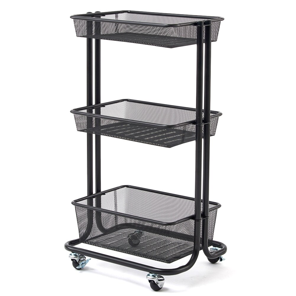 BlueMall: 3-Tier Storage Organizer Standing Shelf, EZOWare ...