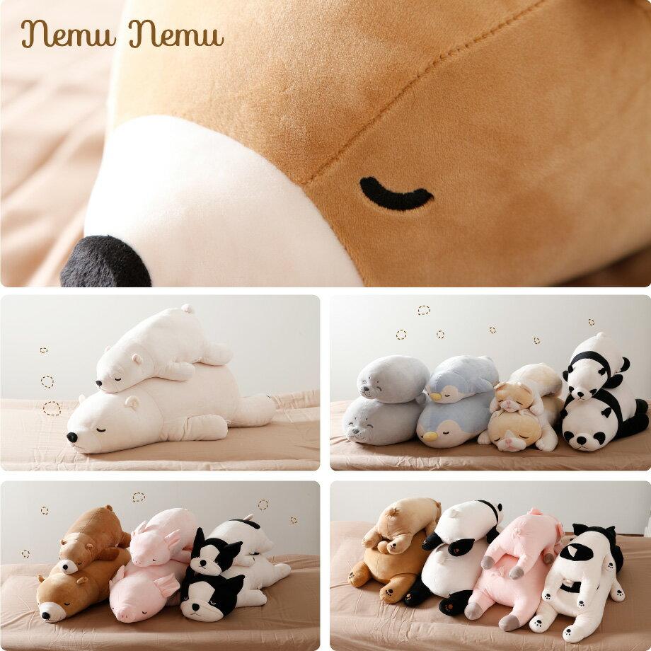 日本 LivHeart Premium Nemu nemu超夯療癒動物抱枕 / M-L / 小熊-日本必買 日本樂天代購(2786-3568*0.7)。滿額免運 2