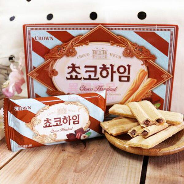 韓國 Crown 巧克力威化捲 47g/盒【特價】§異國精品§