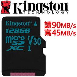 Kingston 金士頓 128GB microSDXC TF UHS-I U3 V30 記憶卡 SDCG2/128GB
