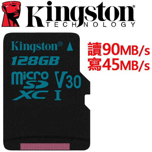 Kingston金士頓128GBmicroSDXCTFUHS-IU3V30記憶卡SDCG2128GB
