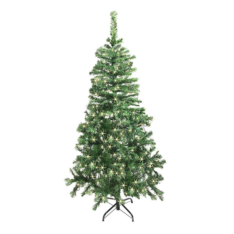 Aleko Products: ALEKO CT78H250HW Luscious 6.5 Feet Christmas Tree ...