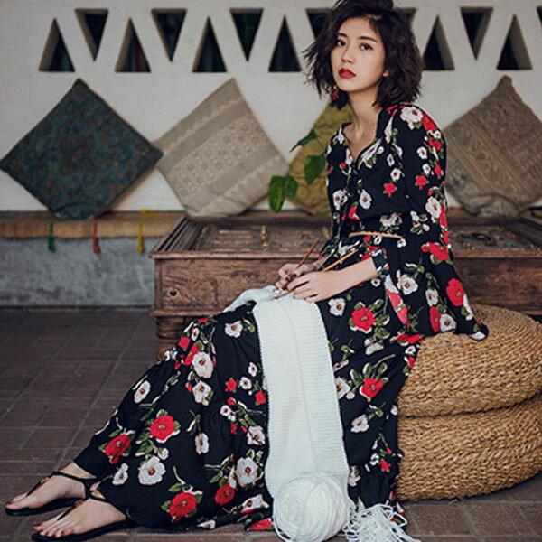 PS Mall 渡假女裝套裝裙子兩件套長裙 洋裝【T025】 0