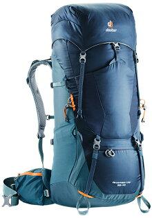 【Deuter德國】AIRCONTACTLITE65+10L拔熱式透氣登山背包健行背包海藍深藍(4340318)