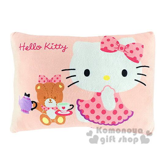 〔小禮堂〕Hello Kitty 午安枕《粉.坐姿.小熊.點點》柔適又舒眠