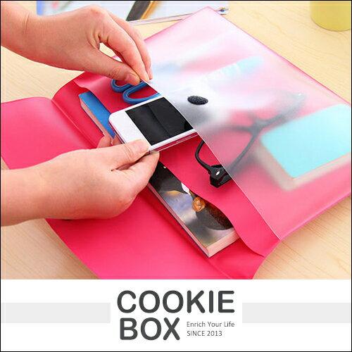 糖果色 A4 黏扣式 文件袋 文件夾 檔案夾 作品夾 魔鬼氈 辦公 作業 多夾層 文具 收納 *餅乾盒子*