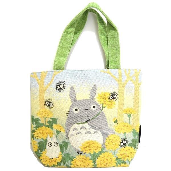 【真愛日本】 16070600059戈布蘭織橫式手提袋-蒲公英滿開  龍貓 TOTORO 豆豆龍   提袋 購物袋 袋子