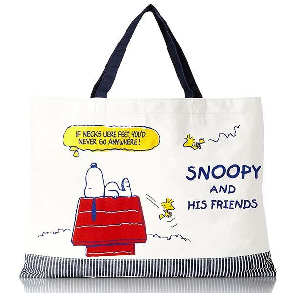 sightme看過來購物城:CR14213【日本進口正版】史努比Snoopy學院篇手提袋手提包肩背包PEANUTS-142137