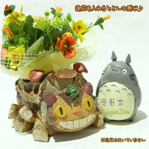 【真愛日本】16090700017花器-貓公車&灰龍貓   龍貓 TOTORO 豆豆龍 花器 擺飾 收納 正品