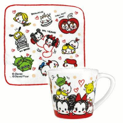 【真愛日本】17122000052陶瓷馬克杯方巾組-tsum塗鴉迪士尼米奇米妮唐老鴨維尼杯子+方巾