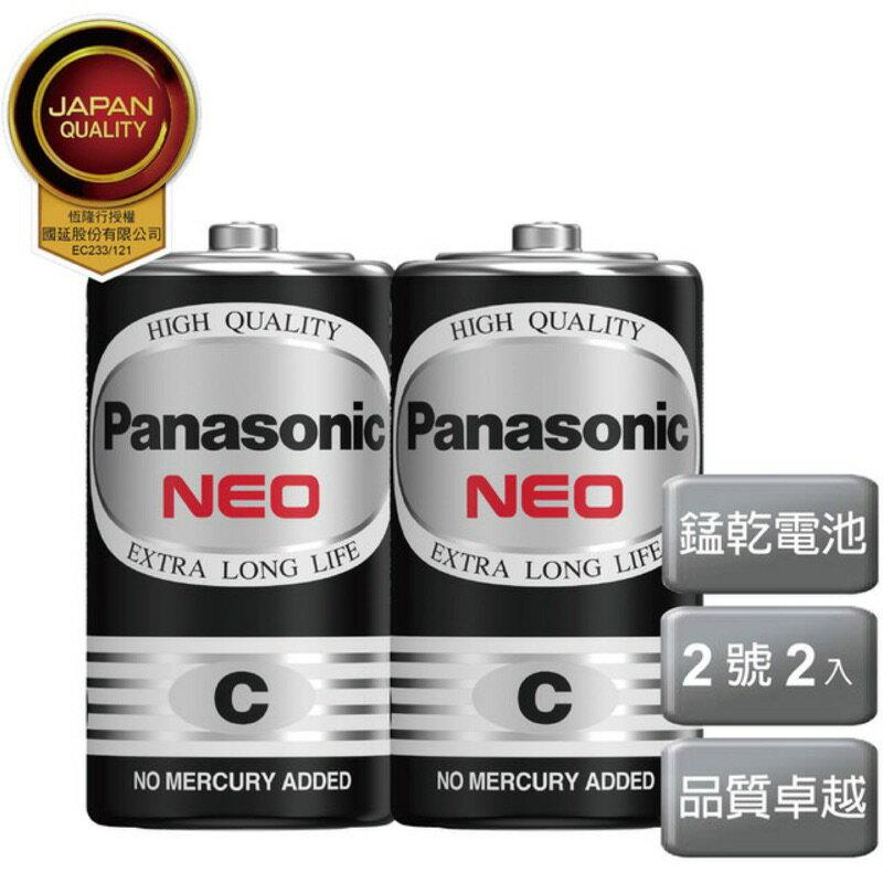 【Panasonic 國際牌】2號電池、黑猛、碳鋅電池AA(2入)【LD269】